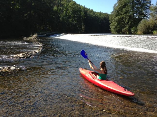 Kayaking in the Otava River