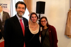 With the US Ambassador to the CR and Rosie