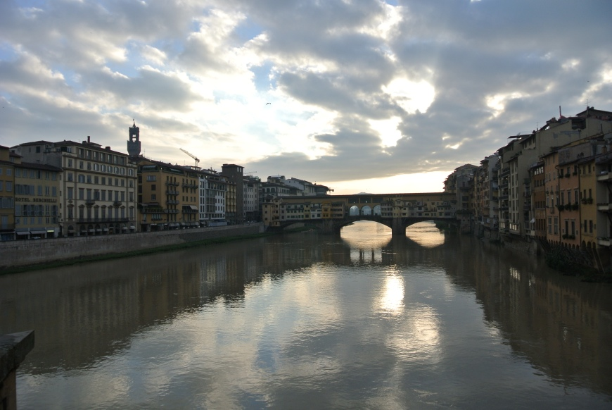 The Ponte Vecchio and Arno