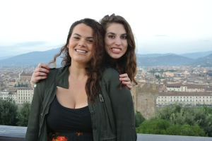 Dani and Me at Piazza Michelangelo, Florence