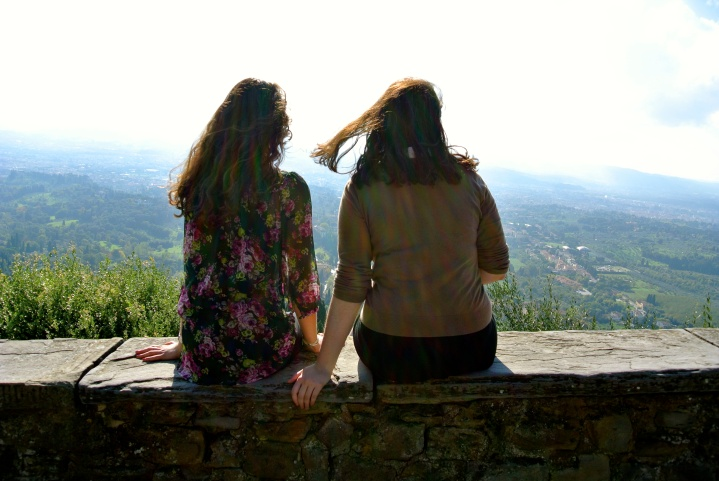 Lookout over Tuscany and Florence, Fiesole, Italy