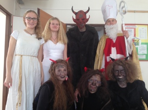 Some of My Students Dressed for St. Mikuláš Eve