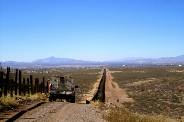 Eating Lunch on the US-Mexico Border, Douglas, Arizona