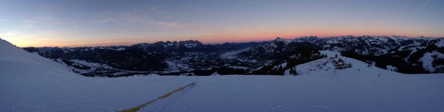 Sunset Panorama Alps