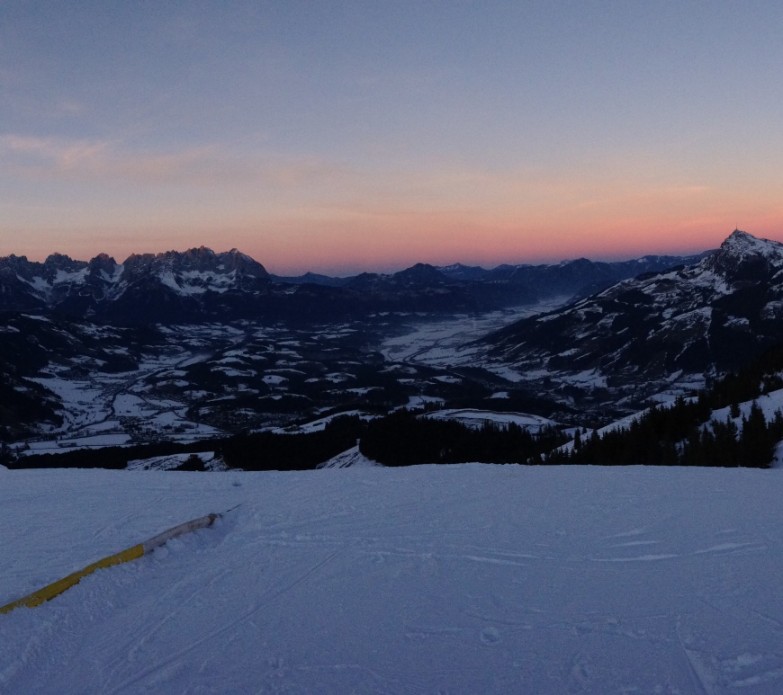 Sunset Panorama Alps