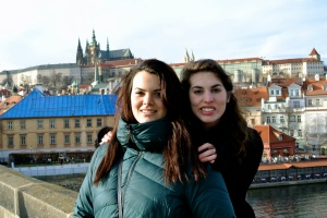 Dani and Me on Charles Bridge