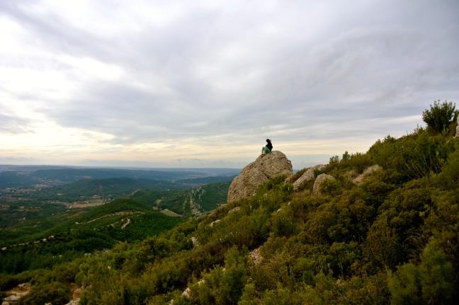 Climbing Sainte-Victoire, France