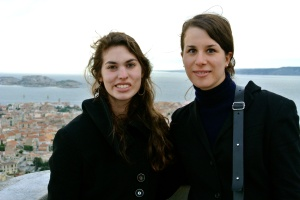Floriane and Me looking out over Marseille