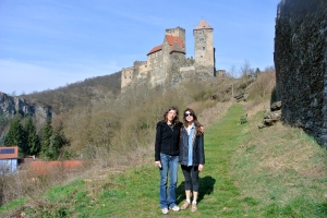 Jana and I at Hardegg Castle