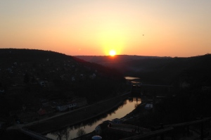 Sunset over Dyje River, Znojmo