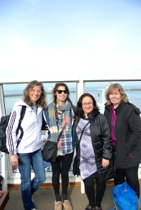 With my fellow Janas on the Callais-Dover Ferry