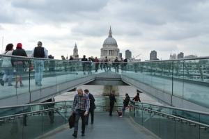 Millenium Bridge and St. Paul's Cathedral