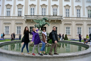 Re-enacting Do-Re-Mi in the Mirabell Gardens