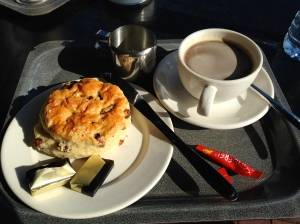 A British Scone and American Coffee, Worthing