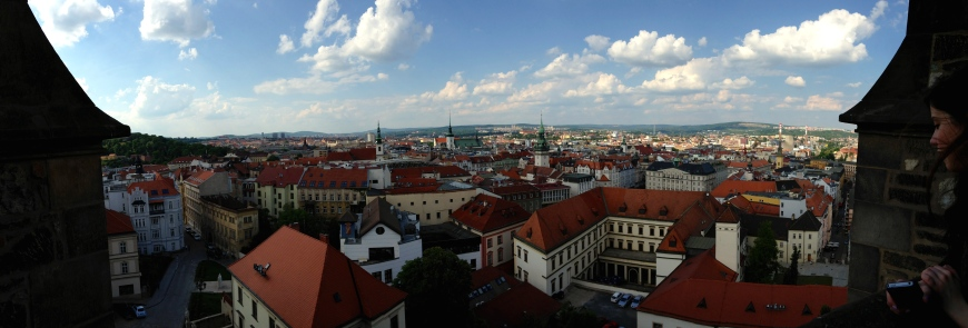 Brno View from the Top of the Cathedral of St. Peter and Paul