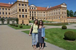 With Jana at jaroměřice Chateau