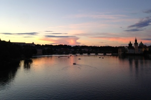 Last Sunset over the Vltava