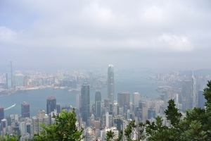 View from Victoria Peak of Hong Kong