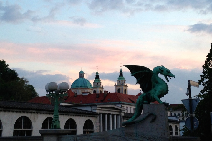 The Ljubljana Dragon Bridge