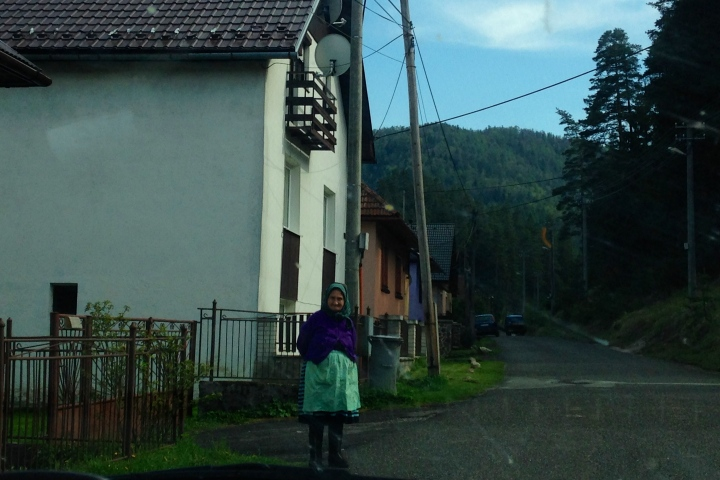 Traditional Slovak Granny in Vernár