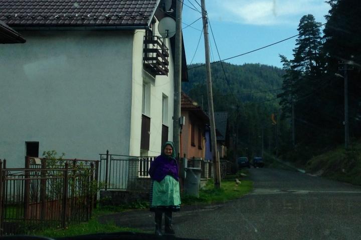 Traditional Slovak Granny in Vernár