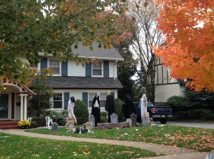 Halloween Decorations in the Suburbs