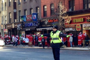All the Santas on 3rd Avenue