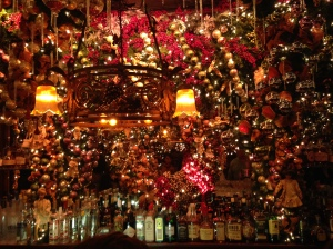 Crazy Christmas Decorations at Rolf's German Restaurant