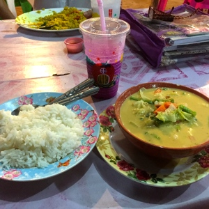 Massaman Curry and Dragonfruit Lassi
