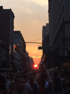 Manhattanhenge! with my Roommate