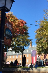 Hearing Hillary in Old Town Alexandria