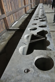 Toilets at Auschwitz