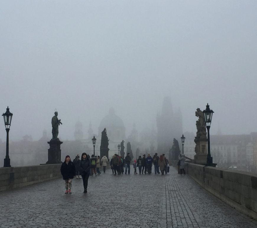 Foggy Charles Bridge