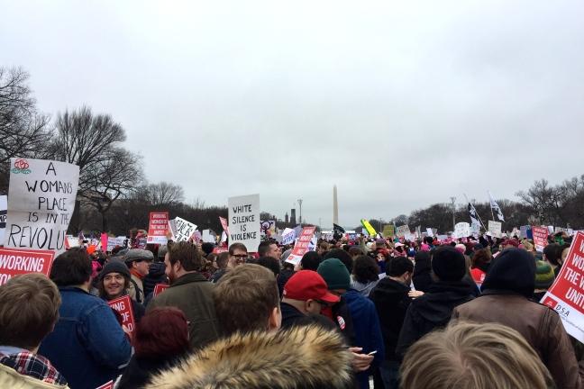 Washington Monument women's march