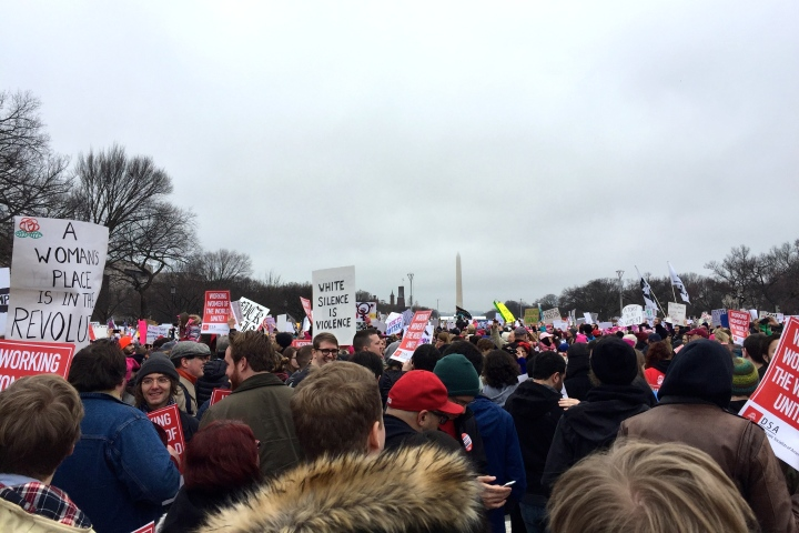 Washington Monument women's march