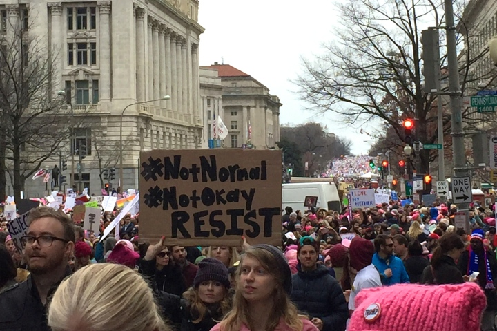 womens march DC streets