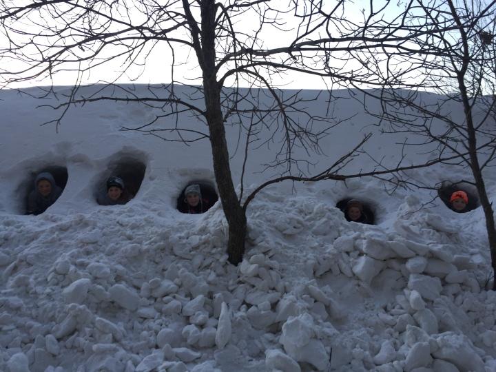 North-dakota-snow-fort
